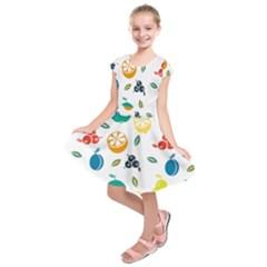 Fruit Lime Kids  Short Sleeve Dress
