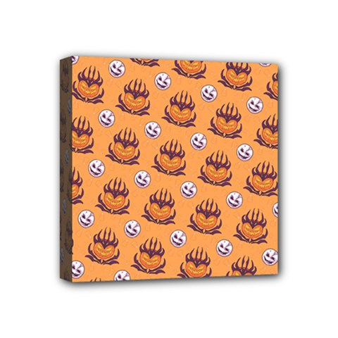 Helloween Moon Mad King Thorn Pattern Mini Canvas 4  X 4