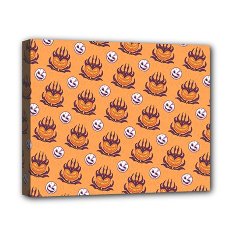 Helloween Moon Mad King Thorn Pattern Canvas 10  x 8
