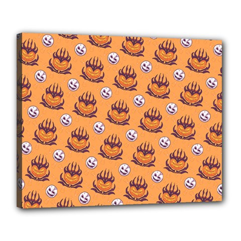 Helloween Moon Mad King Thorn Pattern Canvas 20  x 16