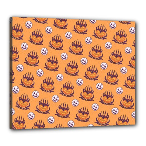 Helloween Moon Mad King Thorn Pattern Canvas 24  x 20