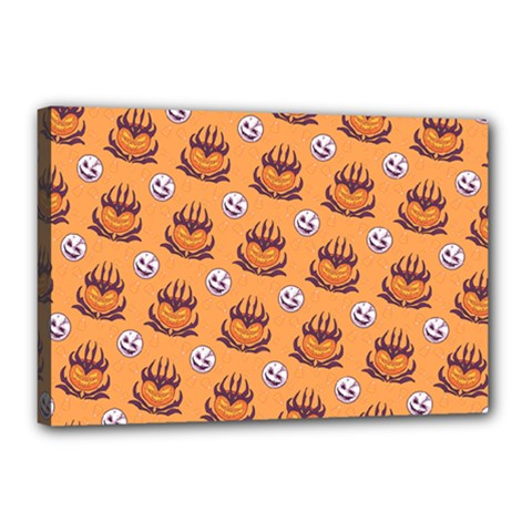 Helloween Moon Mad King Thorn Pattern Canvas 18  X 12