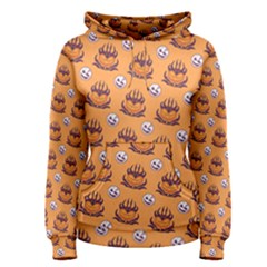 Helloween Moon Mad King Thorn Pattern Women s Pullover Hoodie