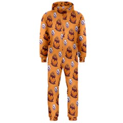 Helloween Moon Mad King Thorn Pattern Hooded Jumpsuit (Men)