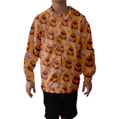 Helloween Moon Mad King Thorn Pattern Hooded Wind Breaker (Kids)