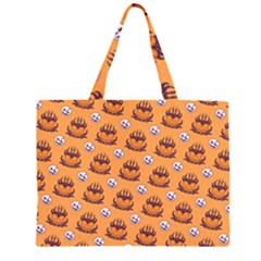 Helloween Moon Mad King Thorn Pattern Large Tote Bag
