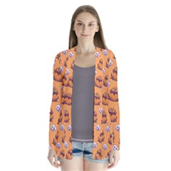 Helloween Moon Mad King Thorn Pattern Cardigans
