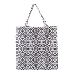 Triangel Plaid Grocery Tote Bag