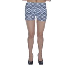 Triangel Plaid Skinny Shorts