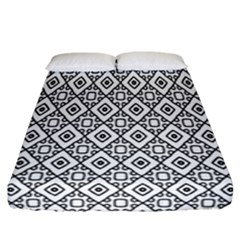 Triangel Plaid Fitted Sheet (california King Size)