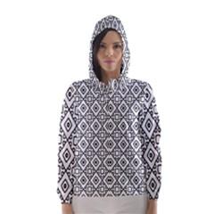 Triangel Plaid Hooded Wind Breaker (Women)