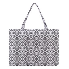 Triangel Plaid Medium Tote Bag