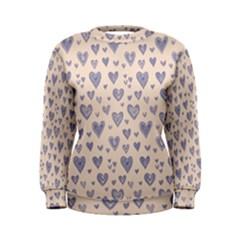 Heart Love Valentine Pink Blue Women s Sweatshirt