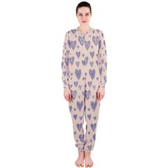 Heart Love Valentine Pink Blue OnePiece Jumpsuit (Ladies)
