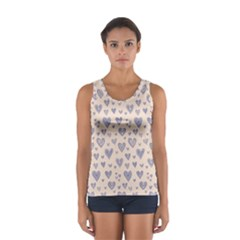 Heart Love Valentine Pink Blue Women s Sport Tank Top