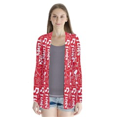 Happy Valentines Love Heart Red Cardigans