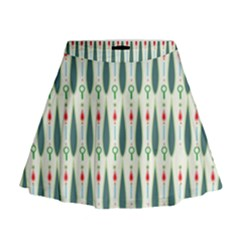 Geometric Blue Circle Blue Mini Flare Skirt