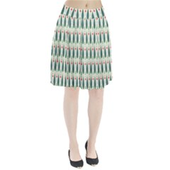 Geometric Blue Circle Blue Pleated Skirt