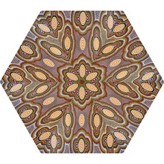 Aborigianal Austrialian Contemporary Aboriginal Flower Mini Folding Umbrellas
