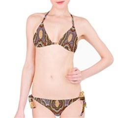 Aborigianal Austrialian Contemporary Aboriginal Flower Bikini Set