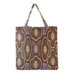 Aborigianal Austrialian Contemporary Aboriginal Flower Grocery Tote Bag