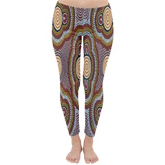 Aborigianal Austrialian Contemporary Aboriginal Flower Classic Winter Leggings