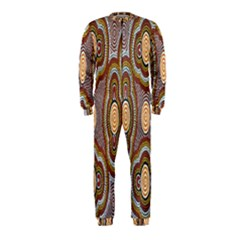 Aborigianal Austrialian Contemporary Aboriginal Flower OnePiece Jumpsuit (Kids)