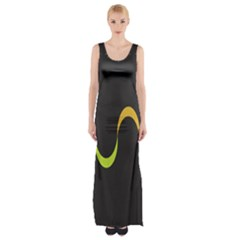 Artwork Simple Minimalism Colorful Maxi Thigh Split Dress
