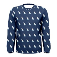 Another Rain Day Water Blue Men s Long Sleeve Tee