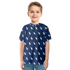 Another Rain Day Water Blue Kids  Sport Mesh Tee