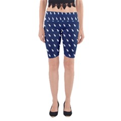 Another Rain Day Water Blue Yoga Cropped Leggings