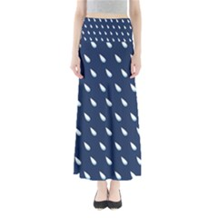 Another Rain Day Water Blue Maxi Skirts