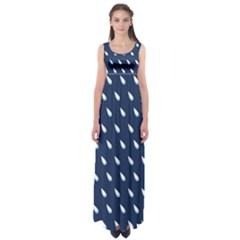 Another Rain Day Water Blue Empire Waist Maxi Dress