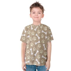 Background Bones Small Footprints Brown Kids  Cotton Tee