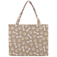 Background Bones Small Footprints Brown Mini Tote Bag
