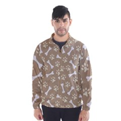 Background Bones Small Footprints Brown Wind Breaker (Men)