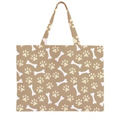 Background Bones Small Footprints Brown Large Tote Bag