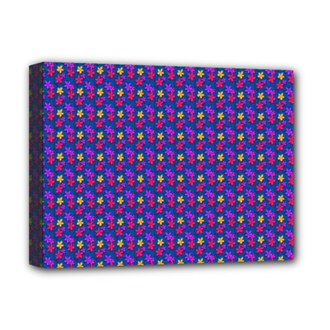 Beach Blue High Quality Seamless Pattern Purple Red Yrllow Flower Floral Deluxe Canvas 16  X 12