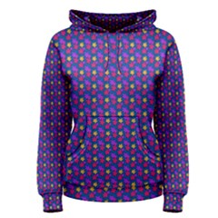 Beach Blue High Quality Seamless Pattern Purple Red Yrllow Flower Floral Women s Pullover Hoodie