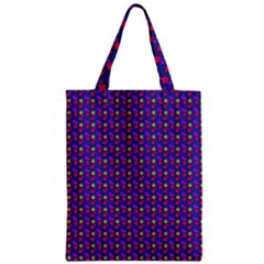 Beach Blue High Quality Seamless Pattern Purple Red Yrllow Flower Floral Zipper Classic Tote Bag
