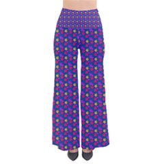 Beach Blue High Quality Seamless Pattern Purple Red Yrllow Flower Floral Pants