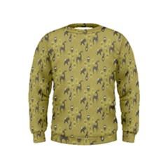 Animals Deer Owl Bird Grey Kids  Sweatshirt