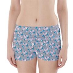 Animals Deer Owl Bird Bear Grey Blue Boyleg Bikini Wrap Bottoms