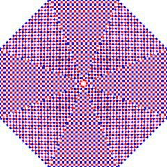Blue Red Checkered Plaid Golf Umbrellas
