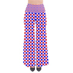 Blue Red Checkered Plaid Pants