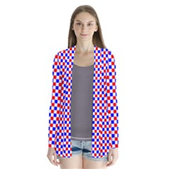 Blue Red Checkered Plaid Cardigans