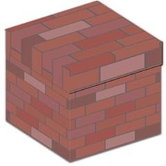 Brick Stone Brown Storage Stool 12
