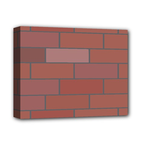 Brick Stone Brown Deluxe Canvas 14  x 11
