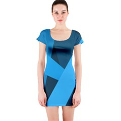Blue Flag Short Sleeve Bodycon Dress