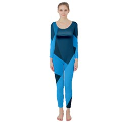 Blue Flag Long Sleeve Catsuit